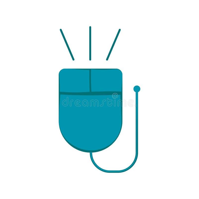 Изолированный значок мыши компьютера бесплатная иллюстрация