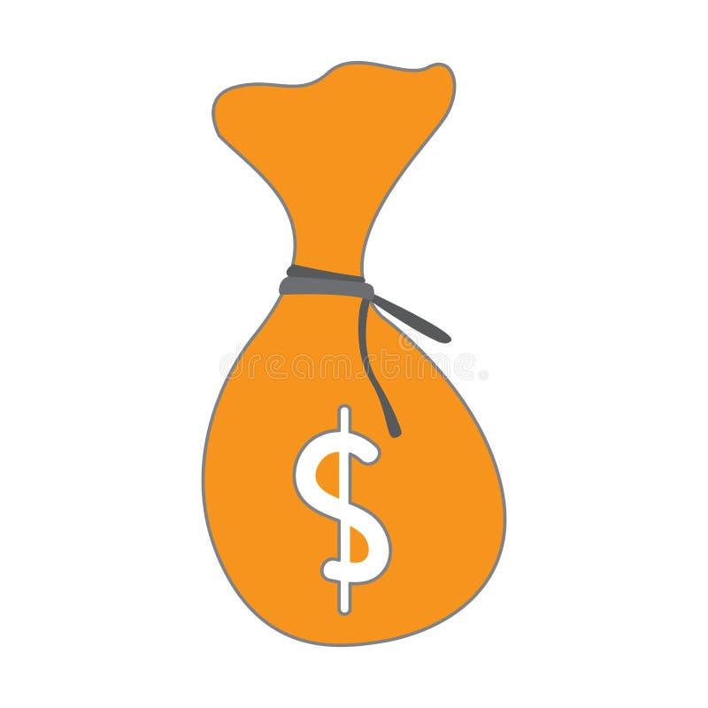 Изолированный значок moneybag иллюстрация вектора