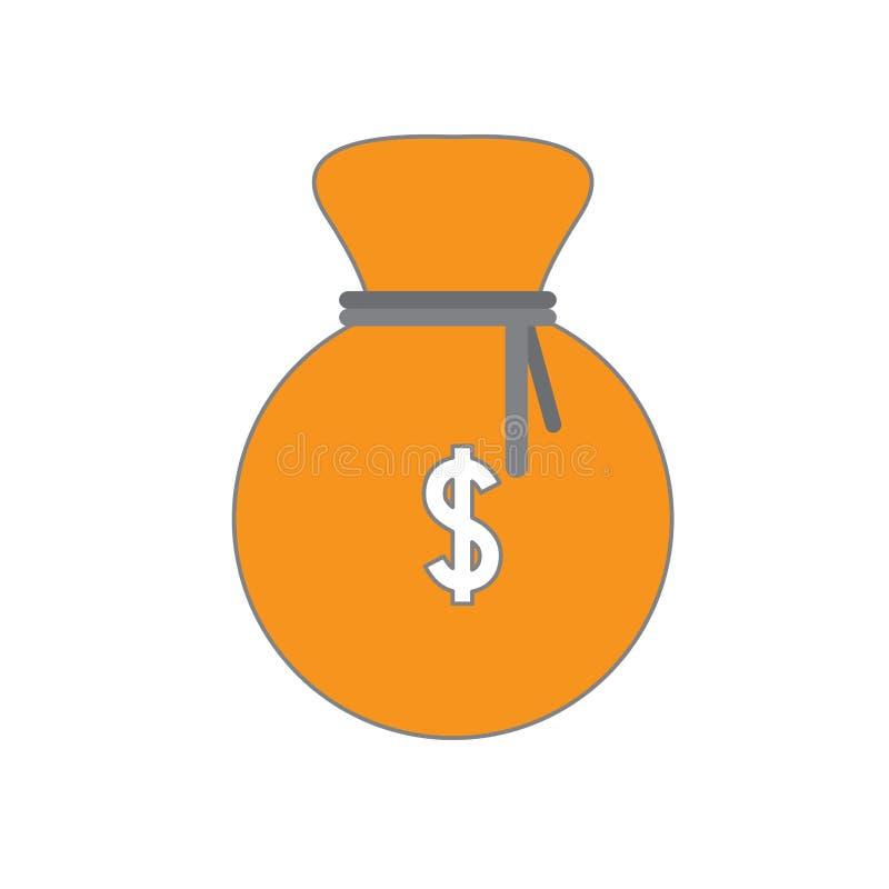 Изолированный значок moneybag иллюстрация штока