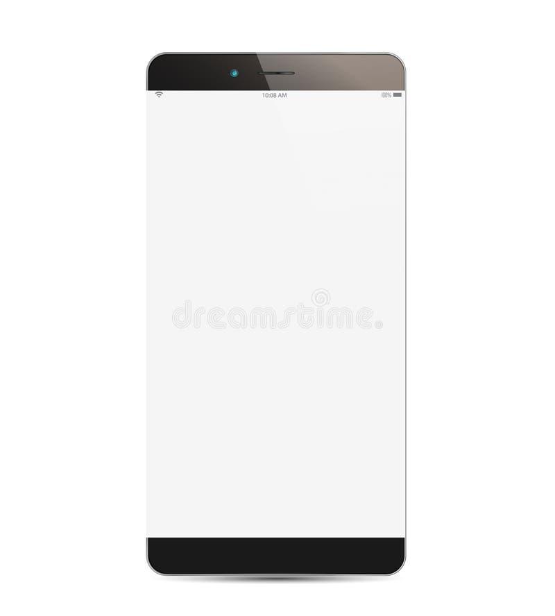 Изолированный и реалистический смартфон бесплатная иллюстрация