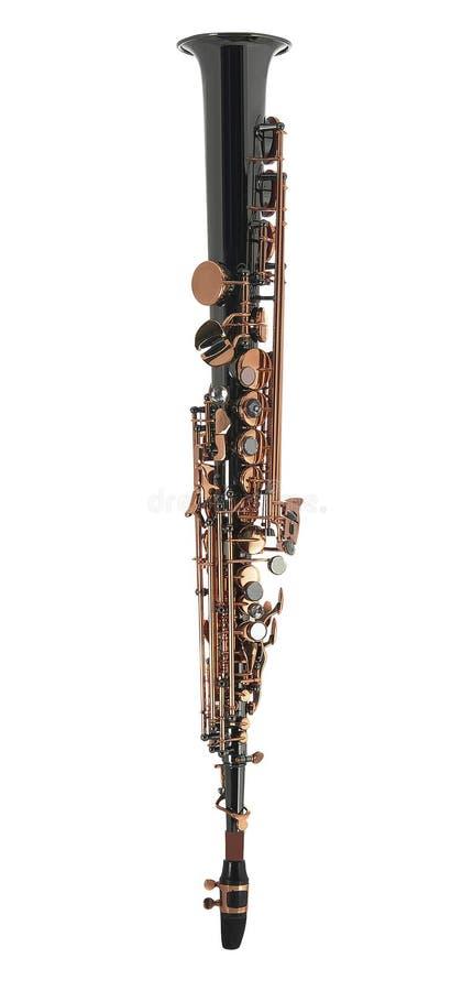 изолированный кларнет стоковая фотография