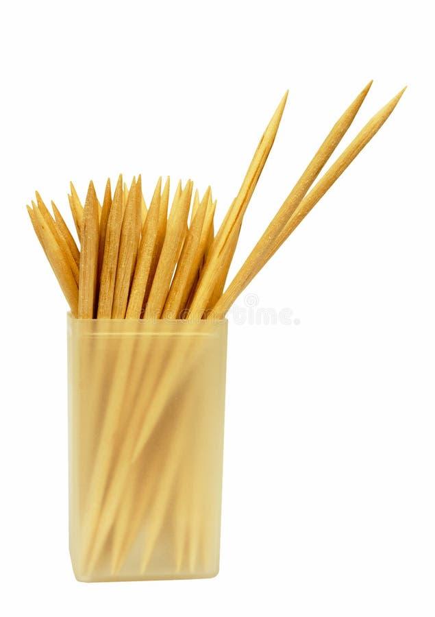 изолированный коктеил вставляет toothpicks стоковое изображение