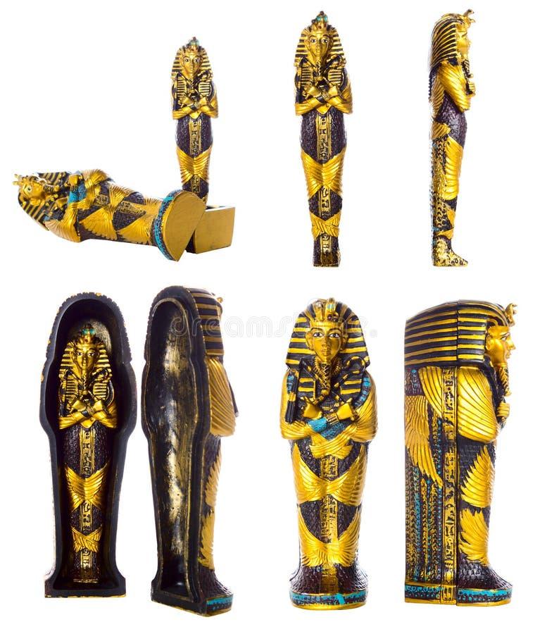 изолированный комплект pharaoh мумии стоковые изображения