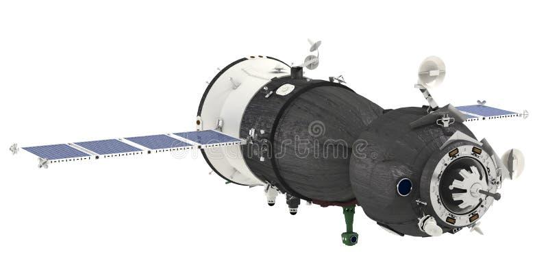 изолированный космический корабль иллюстрация штока