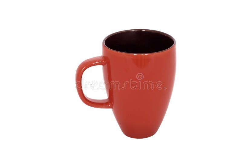 изолированный кофе чай красного цвета кружки стоковое изображение rf