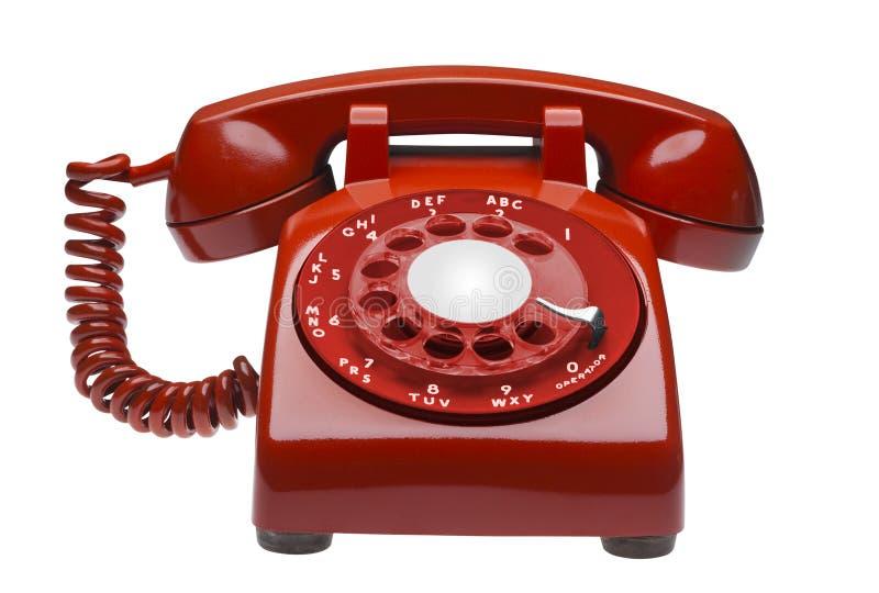 изолированный красный цвет телефона стоковое изображение