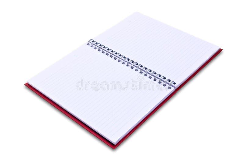изолированный красный цвет тетради стоковые фотографии rf