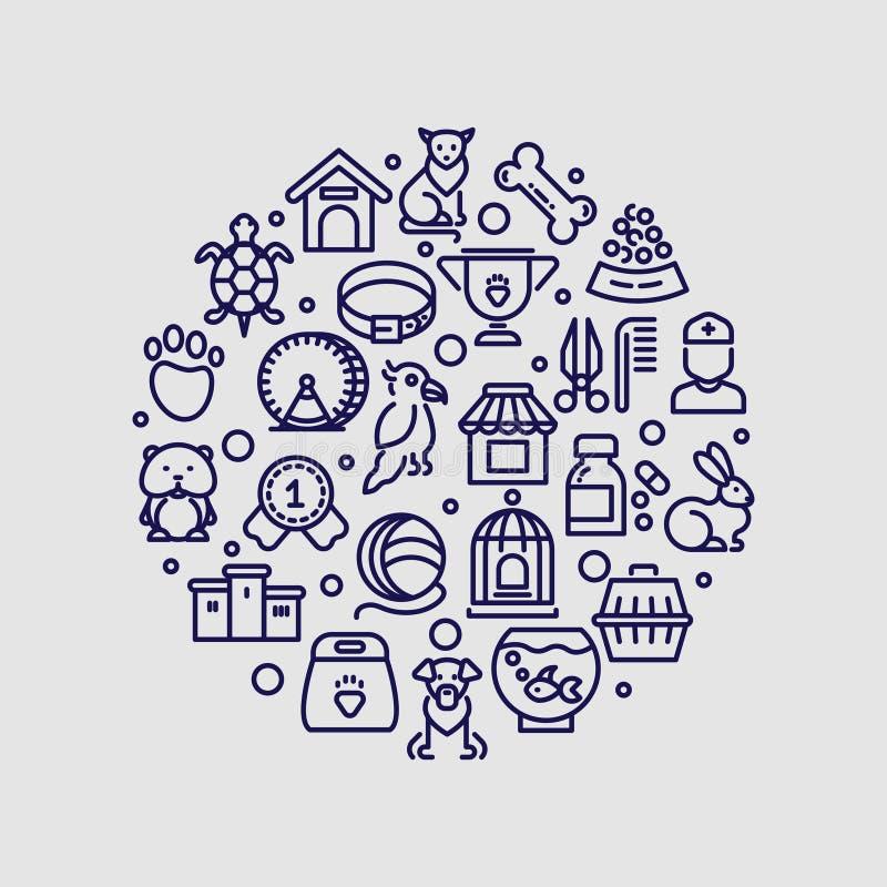 Изолированный логотип вектора клиники зоомагазина и ветеринара бесплатная иллюстрация