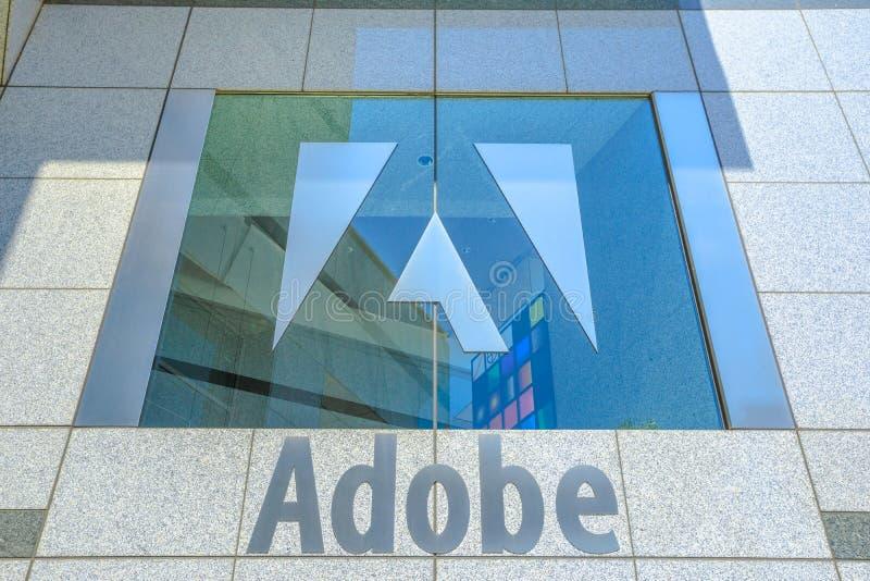 Изолированный логотип Adobe стоковые изображения