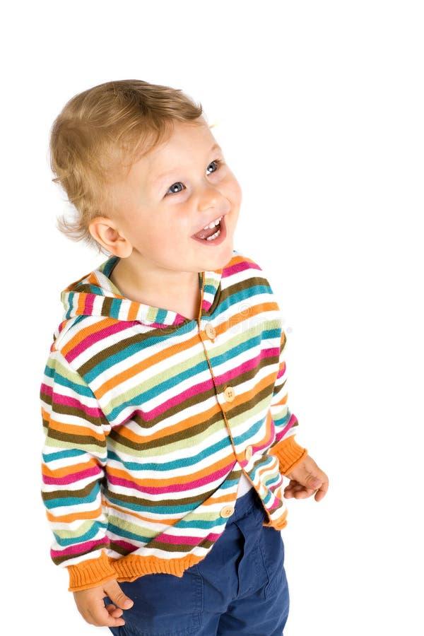 изолированный мальчик предпосылки немногой белому стоковое фото