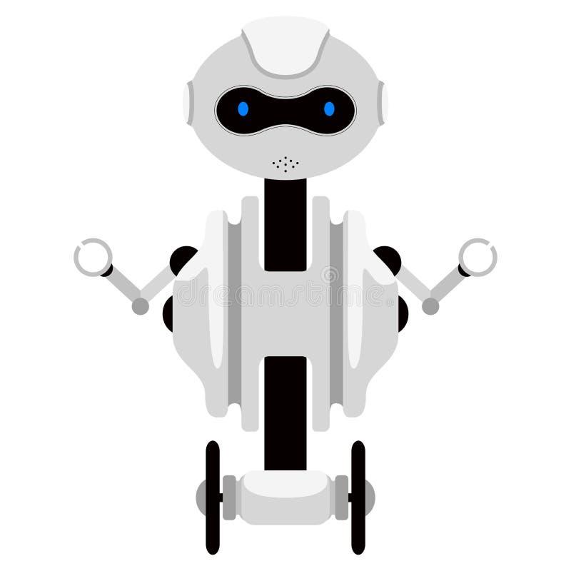 Изолированный милый значок андроида иллюстрация штока