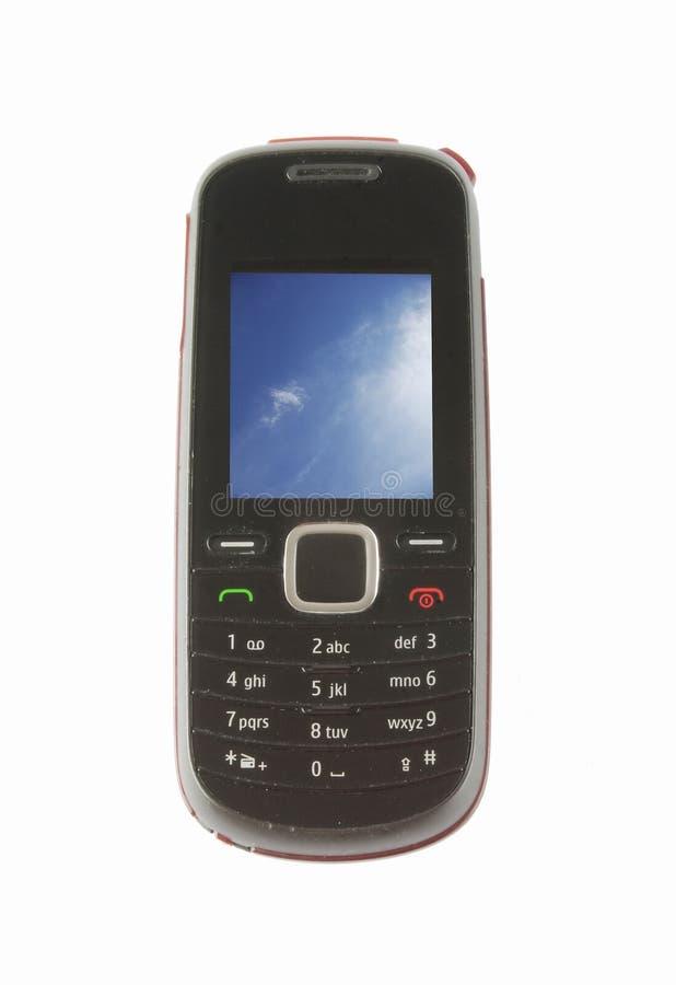 изолированный мобильный телефон стоковое изображение rf