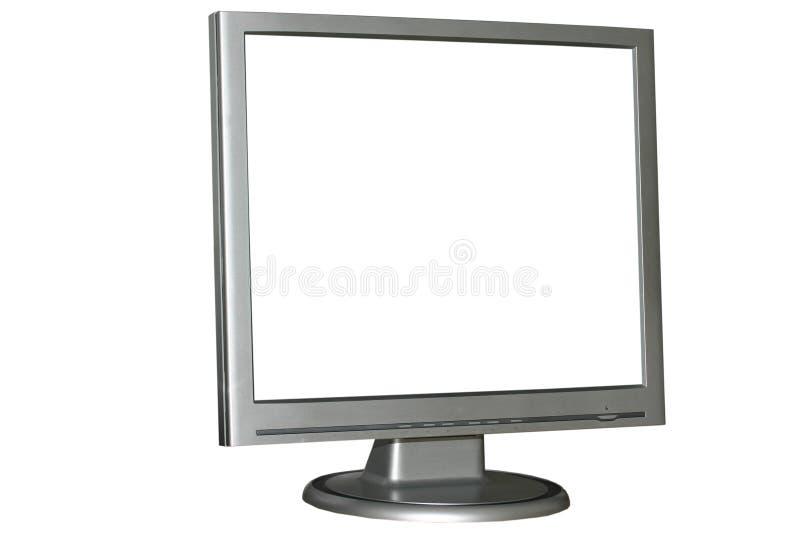 изолированный монитор lcd стоковые изображения rf