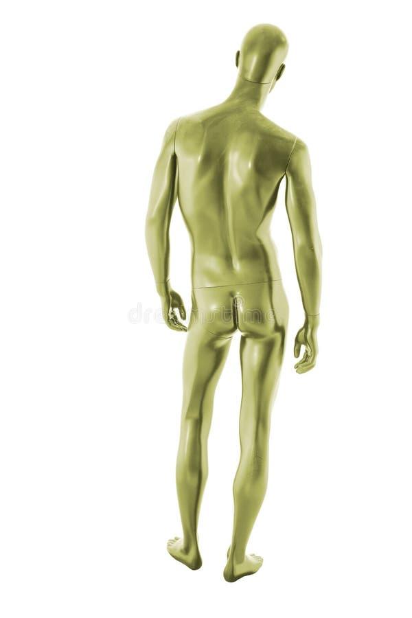 Изолированный мужчина манекена цвета лоска стоковое фото