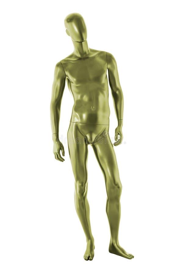 Изолированный мужчина манекена цвета лоска стоковая фотография