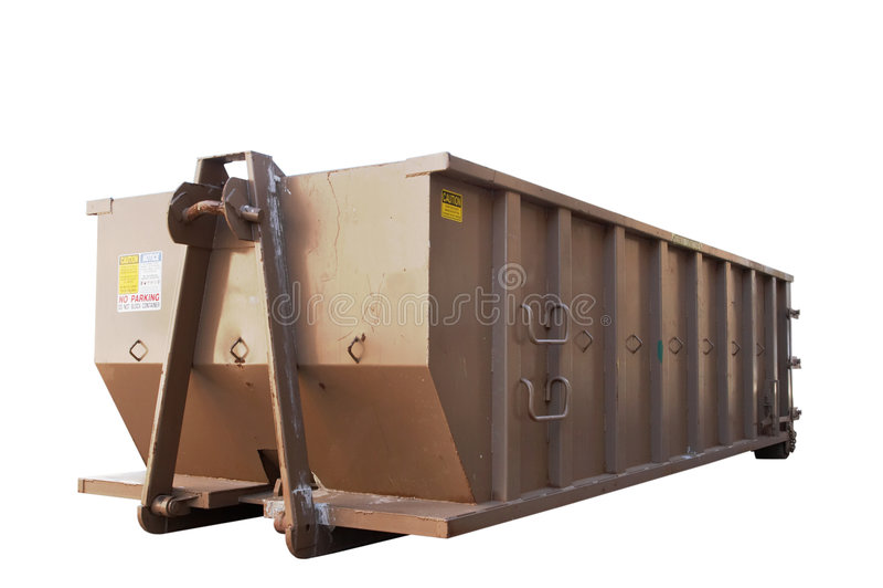 изолированный мусорный контейнер стоковая фотография rf
