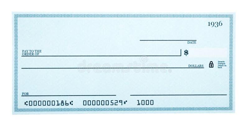 Изолированный незаполненный чек на белизне стоковое изображение