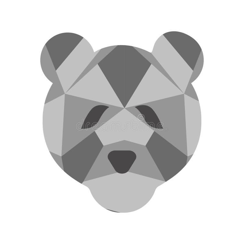 Изолированный низкий поли значок медведя бесплатная иллюстрация