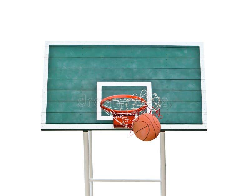 изолированный обруч баскетбола стоковые изображения