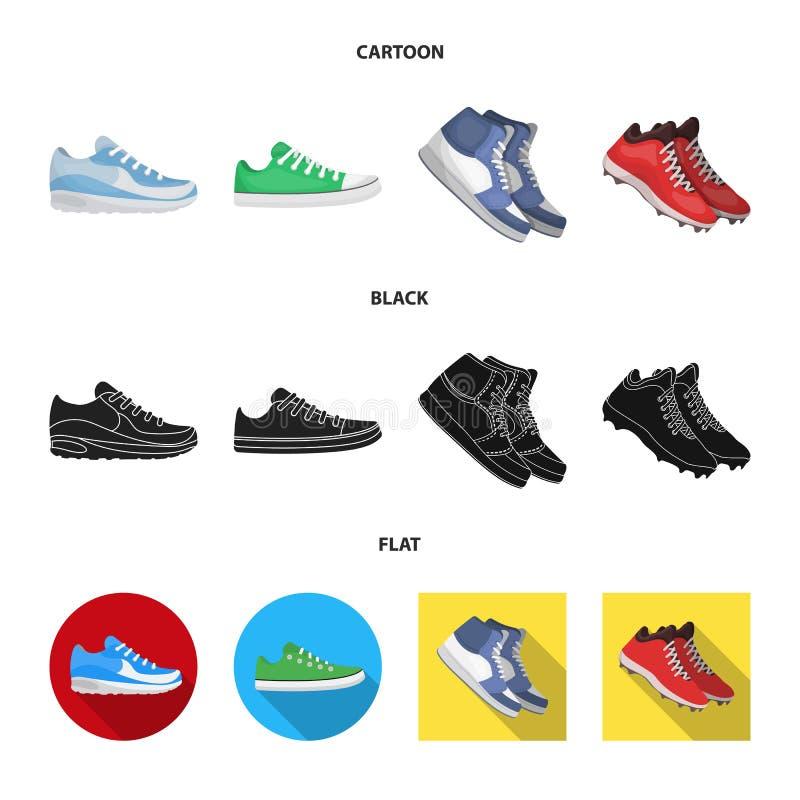 Изолированный объект ботинка и значка спорта Собрание ботинка и иллюстрации вектора запаса фитнеса бесплатная иллюстрация
