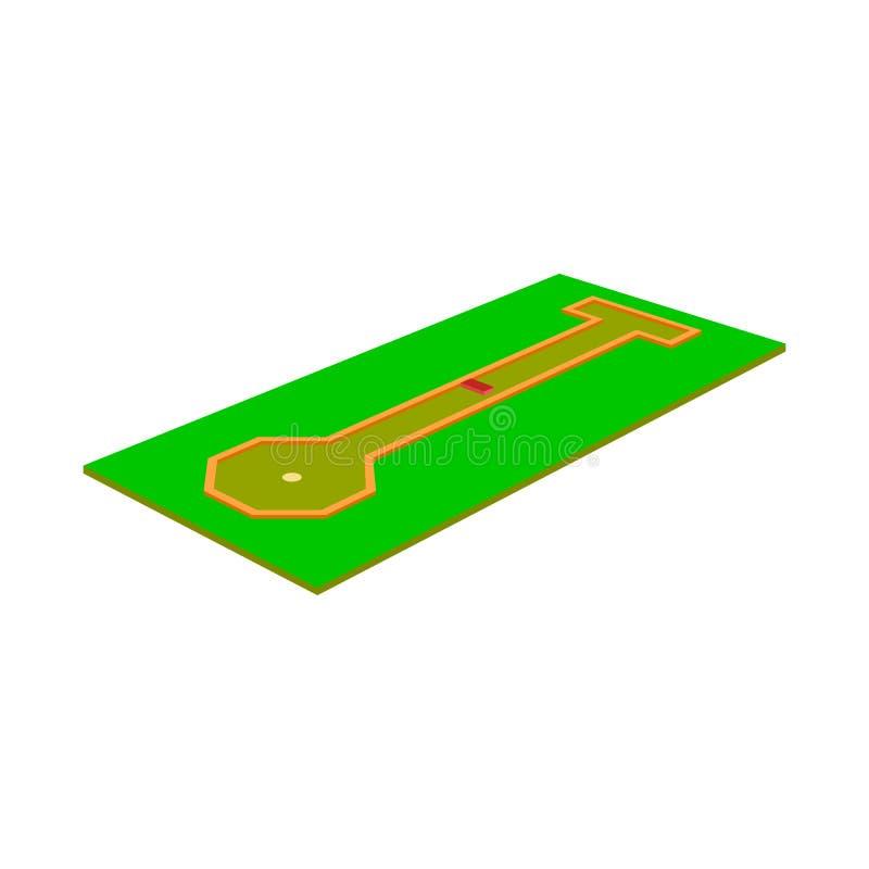 Изолированный объект гольфа и мини символа Установите иллюстрации вектора запаса гольфа и поля иллюстрация вектора