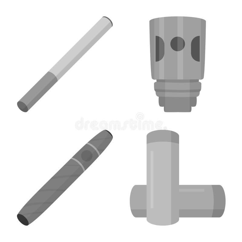 Изолированный объект знака оборудования и трубы Собрание оборудования и иллюстрации вектора запаса вкуса бесплатная иллюстрация