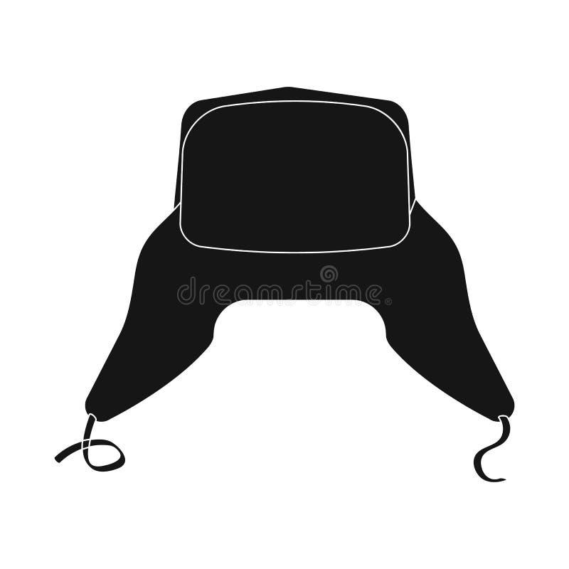 Изолированный объект значка headgear и крышки Комплект иллюстрации вектора запаса headgear и аксессуара бесплатная иллюстрация