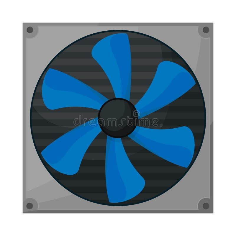 Изолированный объект компьютера и более крутого значка Собрание значка вектора компьютера и вентилятора для запаса иллюстрация вектора