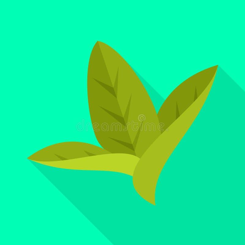 Изолированный объект логотипа лист и листьев Установите лист и ботанического сокращенного названия выпуска акций для сети иллюстрация штока