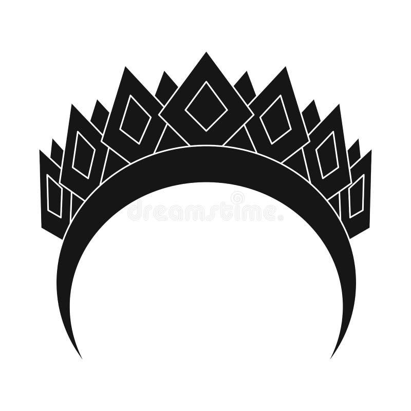 Изолированный объект логотипа diadem и лавра Собрание значка вектора diadem и венка для запаса иллюстрация вектора