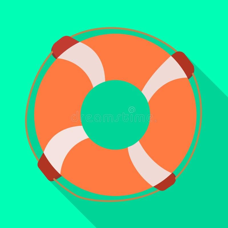 Изолированный объект логотипа lifebuoy и личной охраны Установите иллюстрации lifebuoy и поплавка запаса вектора иллюстрация вектора