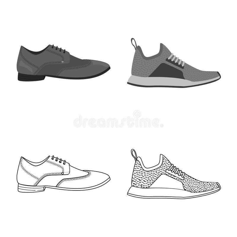 Изолированный объект символа ботинка и обуви r бесплатная иллюстрация