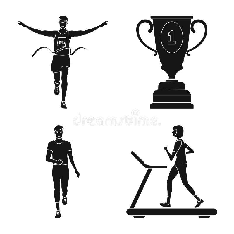 Изолированный объект символа здоровья и фитнеса Установите сокращенного названия выпуска акций здоровья и спринта для сети бесплатная иллюстрация