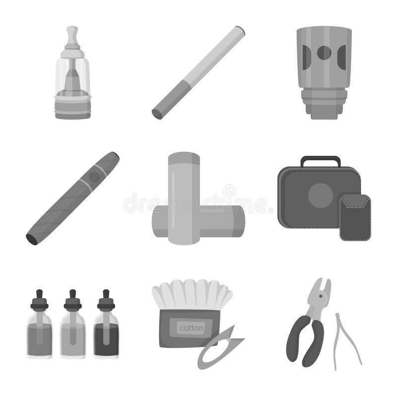 Изолированный объект символа оборудования и трубы Собрание оборудования и иллюстрации вектора запаса вкуса иллюстрация штока