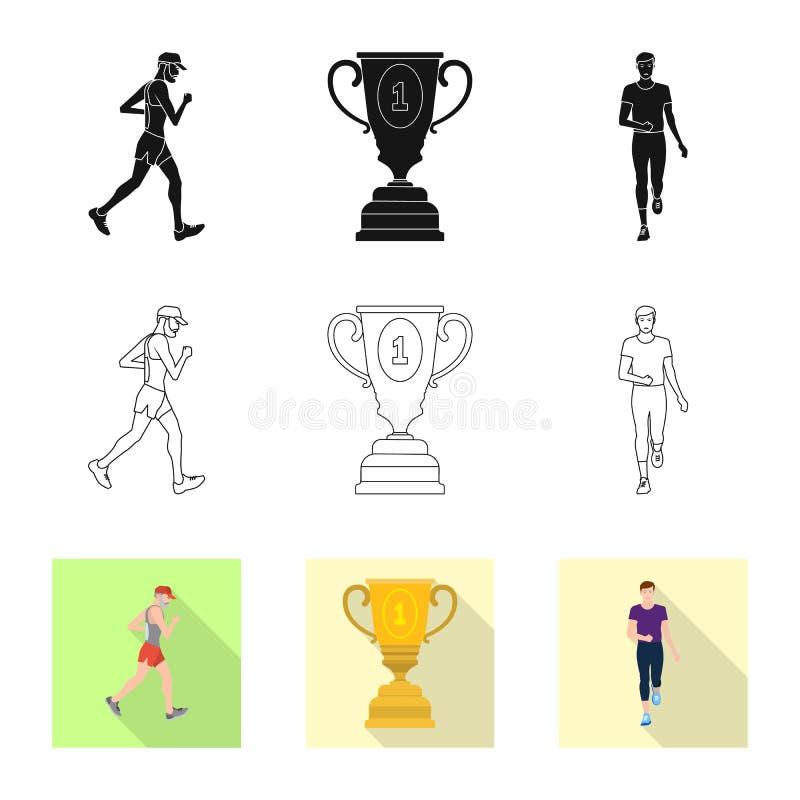Изолированный объект спорта и знака победителя Собрание иллюстрации вектора запаса спорта и фитнеса иллюстрация штока