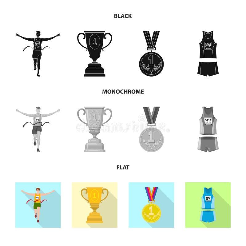 Изолированный объект спорта и логотипа победителя r иллюстрация вектора