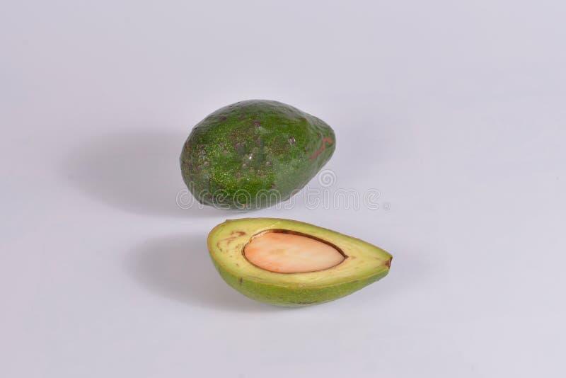 изолированный объект avocado на белом фоне стоковая фотография