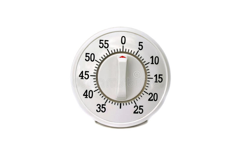 изолированный отметчик времени кухни стоковая фотография