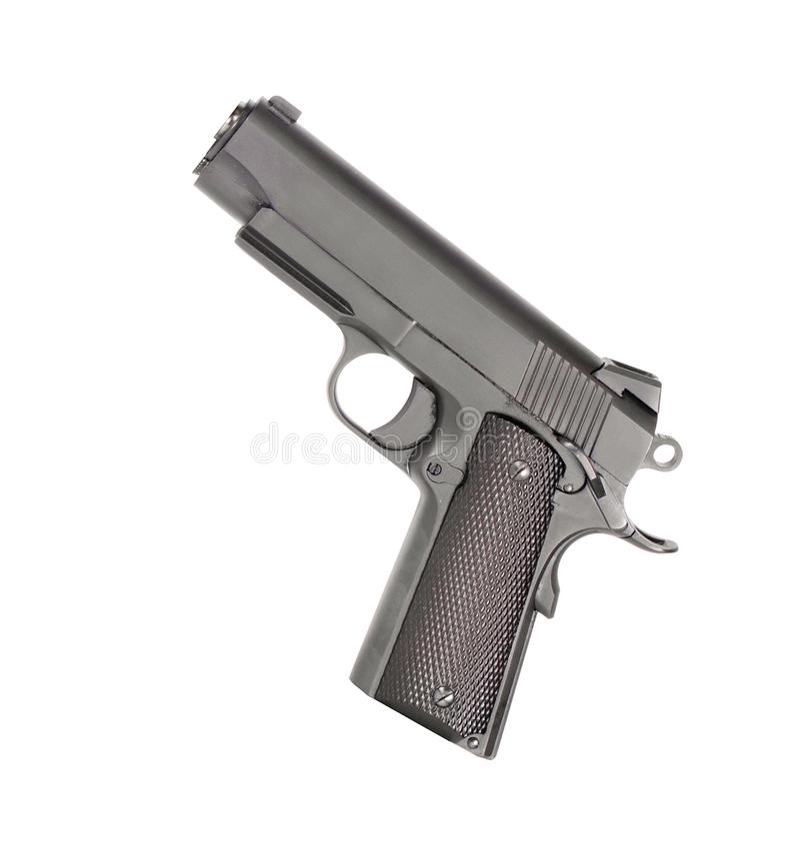 изолированный пистолет стоковая фотография rf