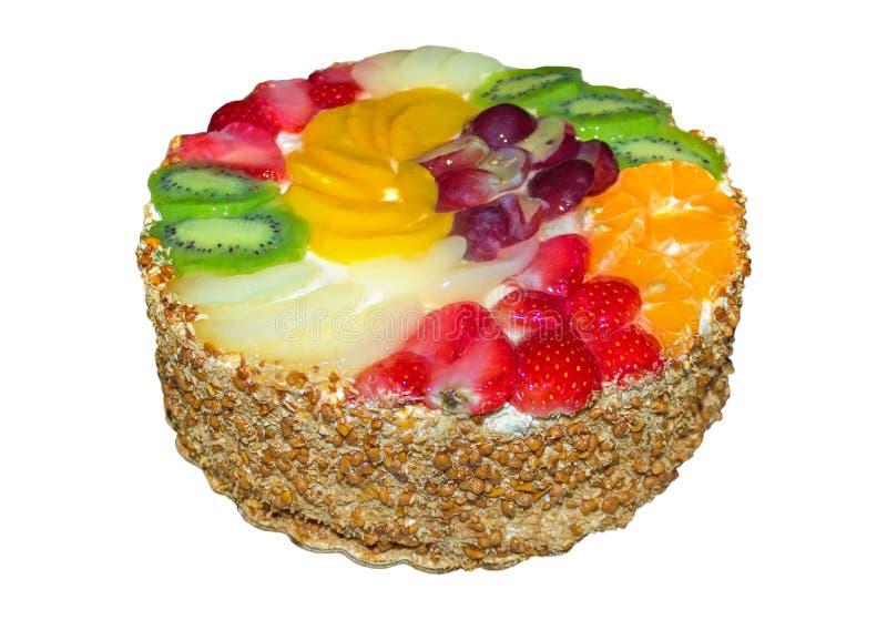 изолированный плодоовощ торта стоковые изображения