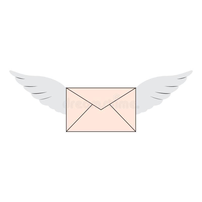 Изолированный превратитесь с крыльями бесплатная иллюстрация