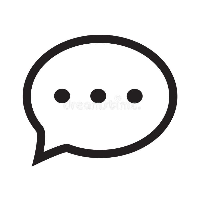 Изолированный пузырь речи с знаком вектора значка многоточия и символ иллюстрация штока