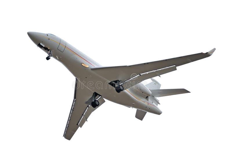 изолированный самолет стоковое изображение rf