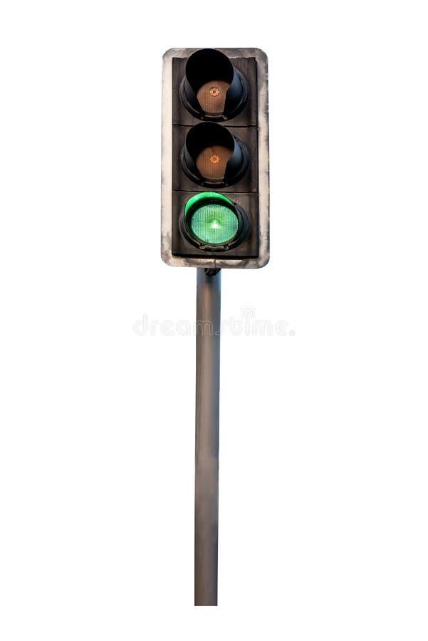 Изолированный светофор стоковое фото rf