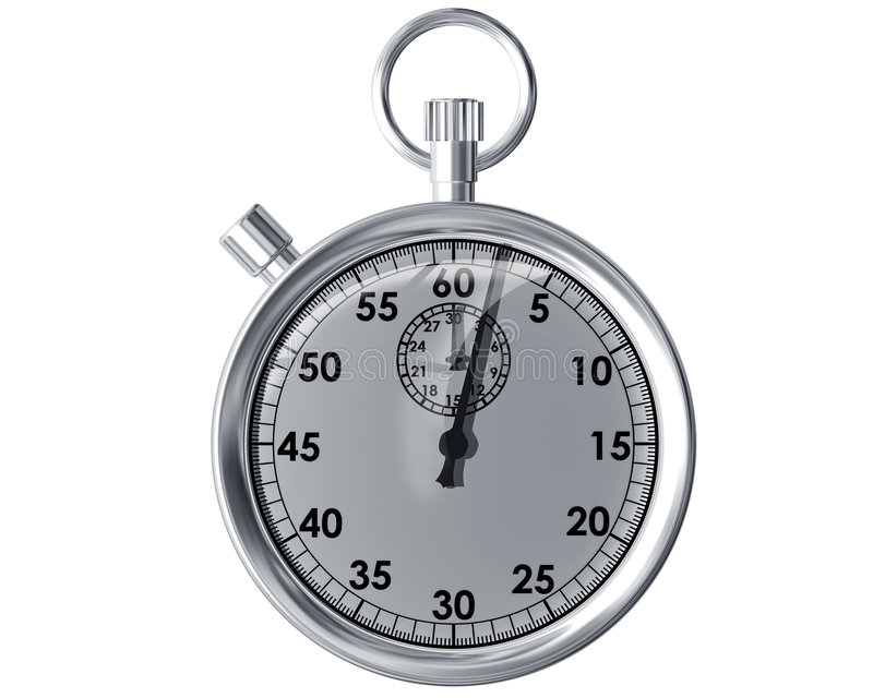 изолированный секундомер бесплатная иллюстрация