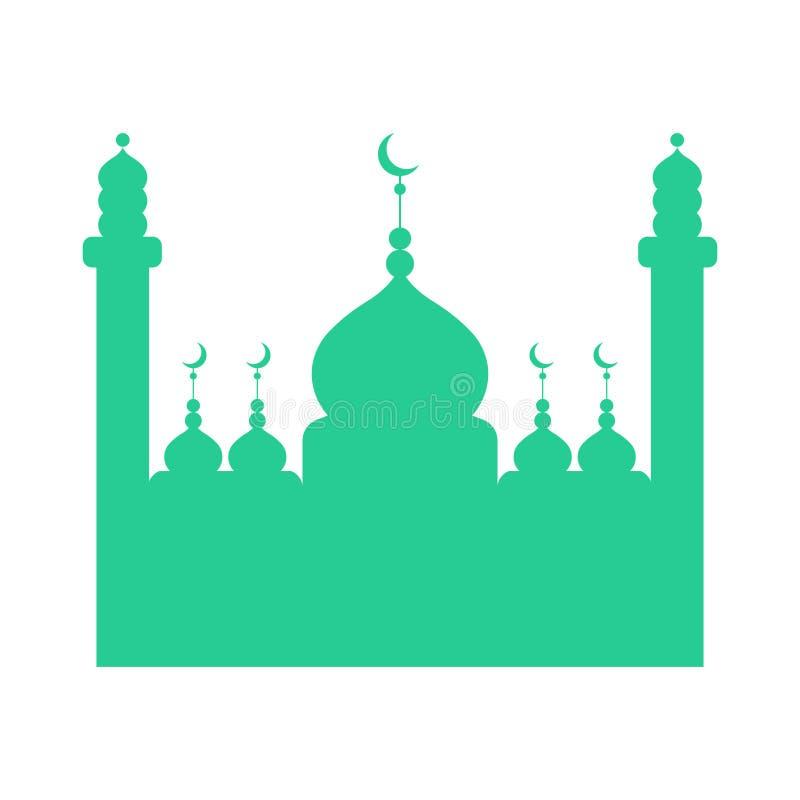 Изолированный силуэт мечети бесплатная иллюстрация