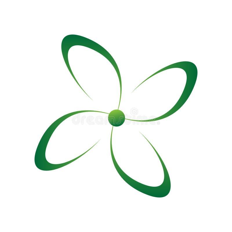 Изолированный символ цветка Абстрактный логотип курорта иллюстрация штока
