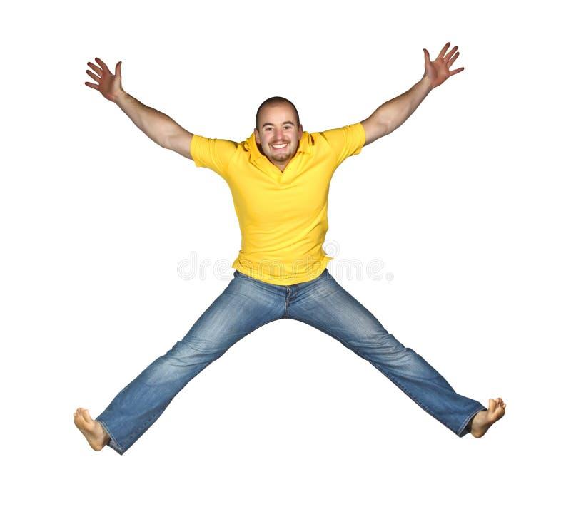 изолированный скача человек стоковое фото
