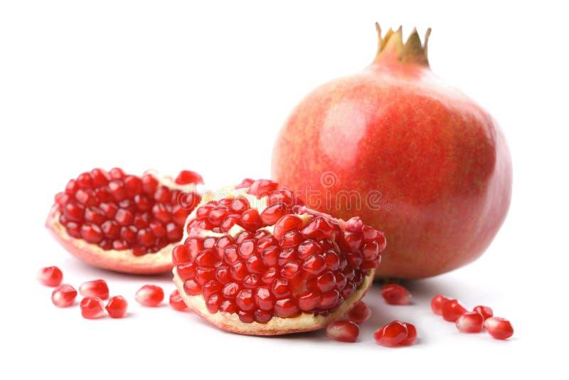 изолированный совершенный pomegranate стоковая фотография rf