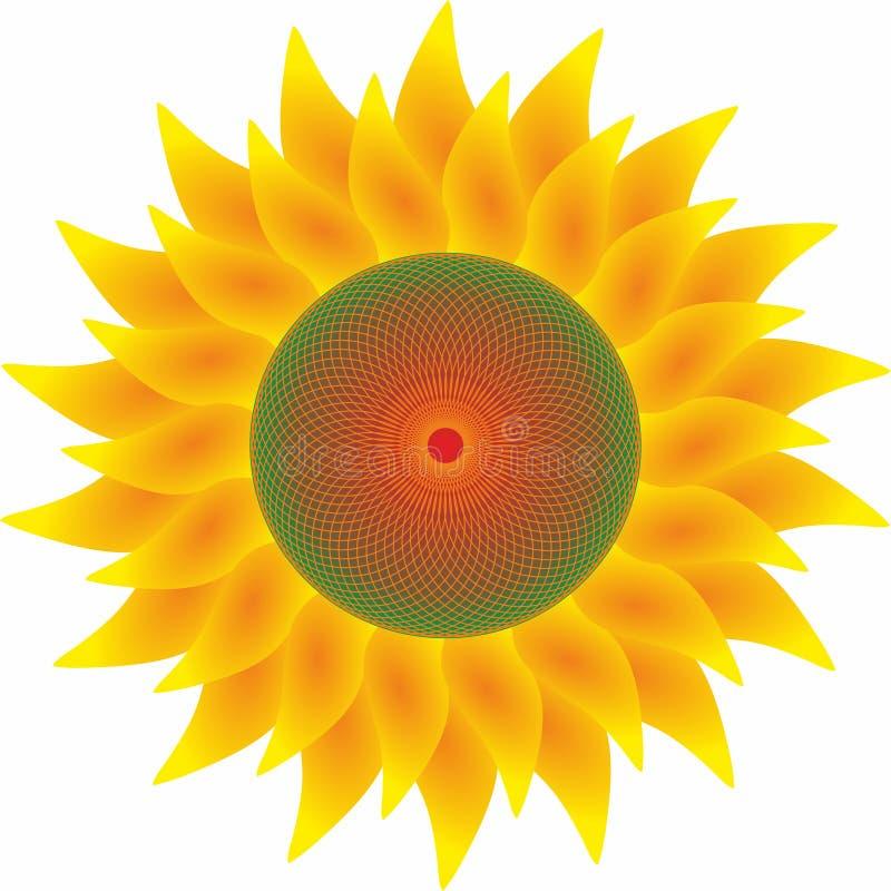 Изолированный солнцецвет, логотип, обои бесплатная иллюстрация
